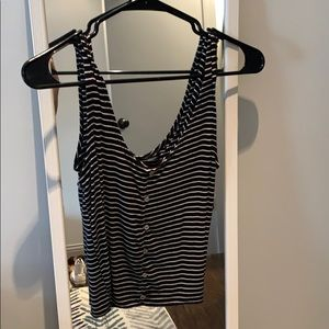 Stripped crop tank top